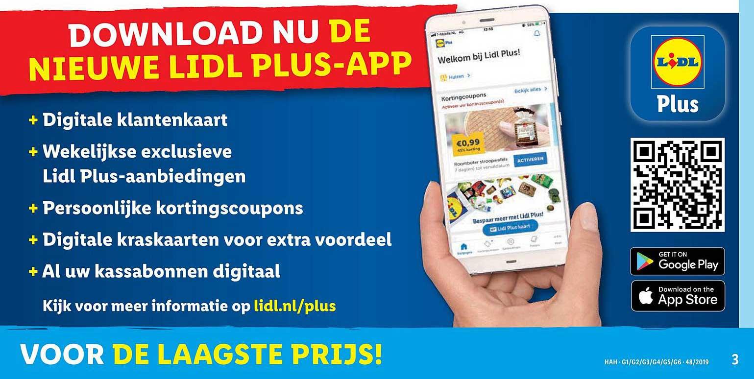 Lidl plus app downloaden met klantenkaart en voordeelkaart
